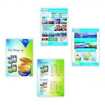 broşür, promosyon broşür, mavi matbaa
